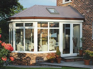 A conservatory with a warm roof conversion